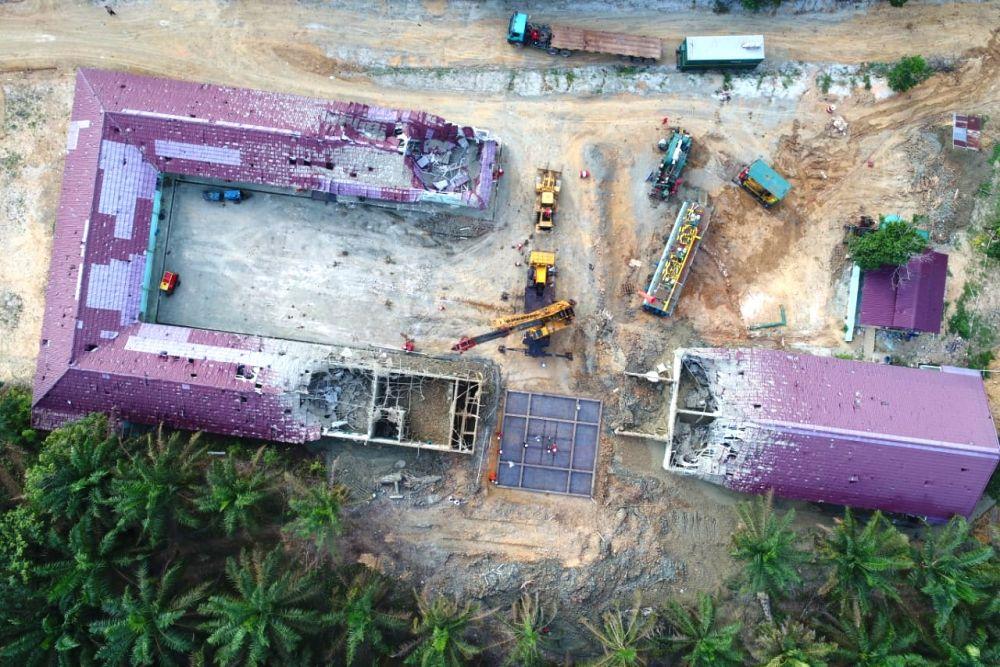 Tim Gabungan Sudah Selesai Kerjakan Penutupan Lubang Semburan Gas di Ponpes Al Ihsan