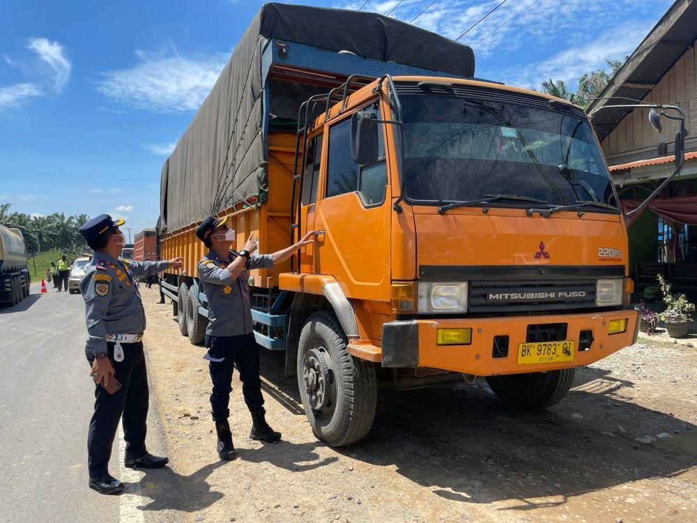 Tim Gabungan Tilang 259 Kendaraan di Rokan Hilir Riau