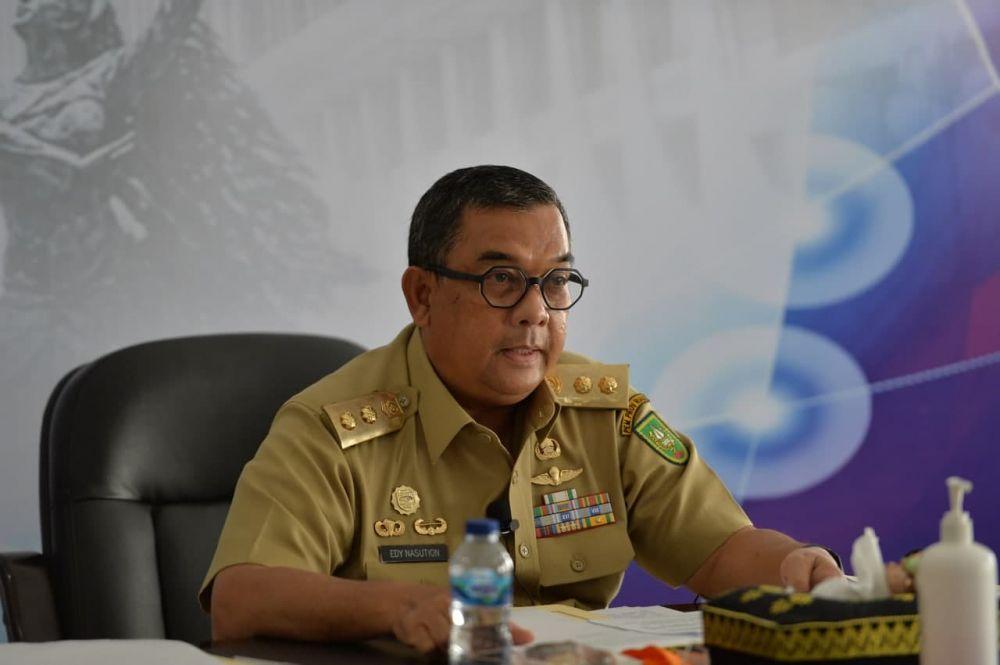 Wagubri Buka Webinar Launching Policy Brief Penanganan Konflik Perkebunan Sawit di Riau