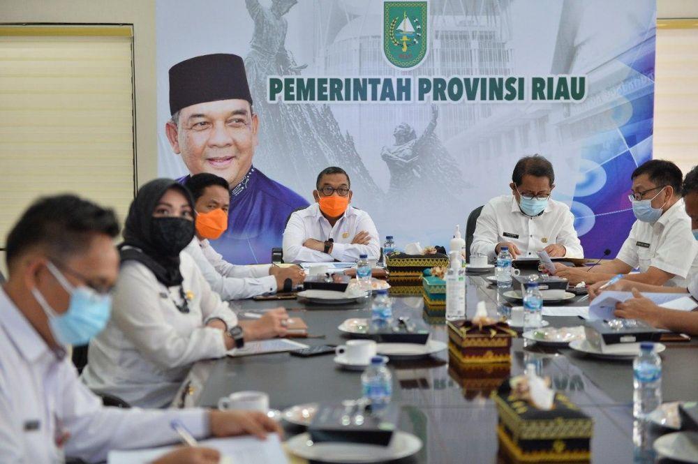 Wagubri Gelar Raker TKPK Riau Tahun 2020