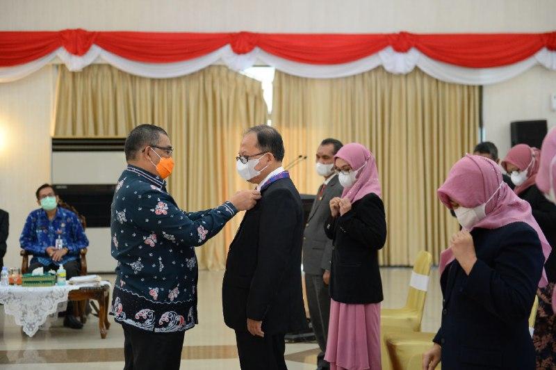 Wagubri Ikuti Pelantikan Pengurus IAI Wilayah Riau Periode 2021-2025