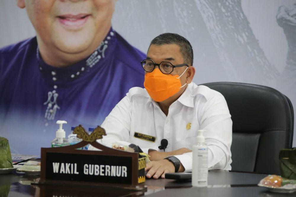 Wagubri Ikuti Rakornas Penanggulangan Bencana Tahun 2021