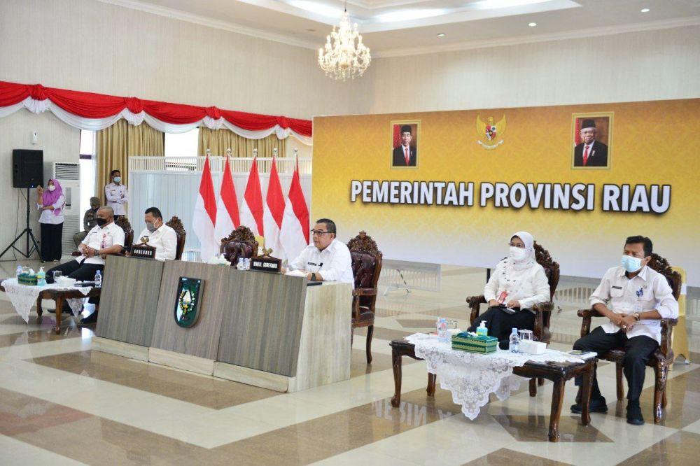 Wagubri Pimpin Entry Briefing BPK RI Terkait Pemeriksaan Pendahuluan Kinerja