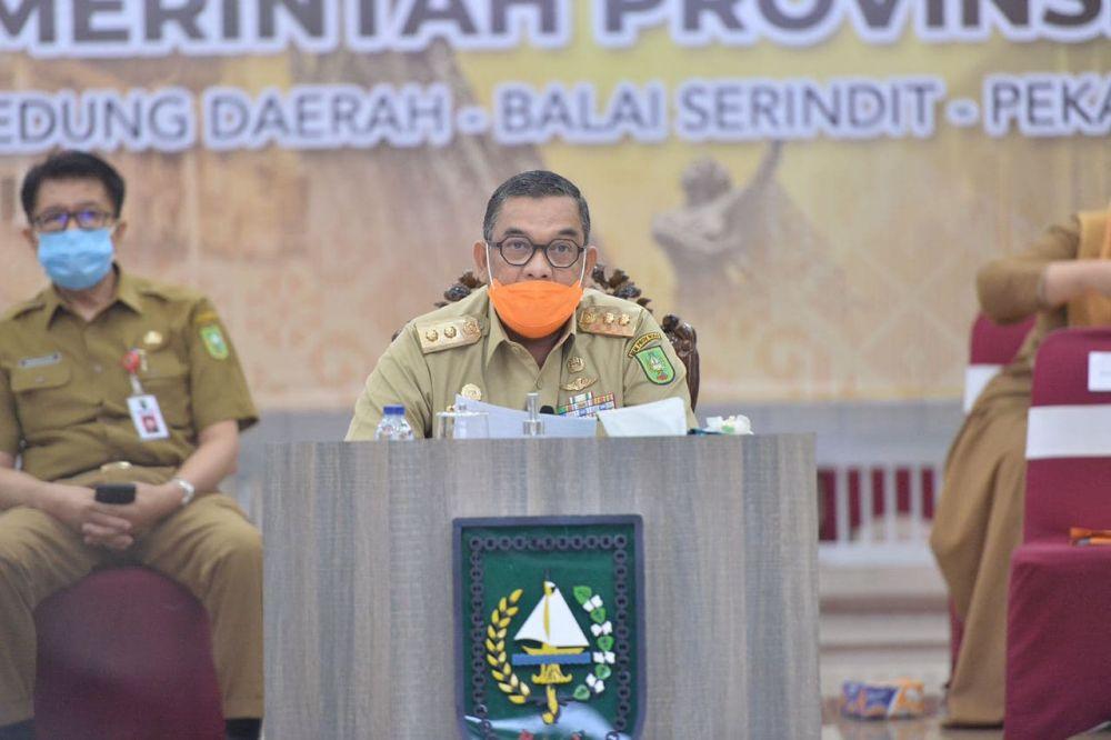 Wagubri Pimpin Rakor Pelaksanaan Tugas dan Fungsi Instansi Vertikal se-Provinsi Riau Tahun 2020
