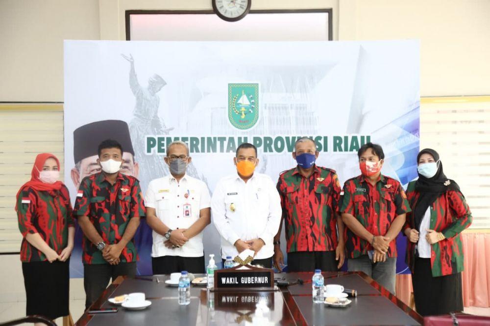 Wagubri Terima Audiensi Baladhika Karya Satuan Serbaguna Riau