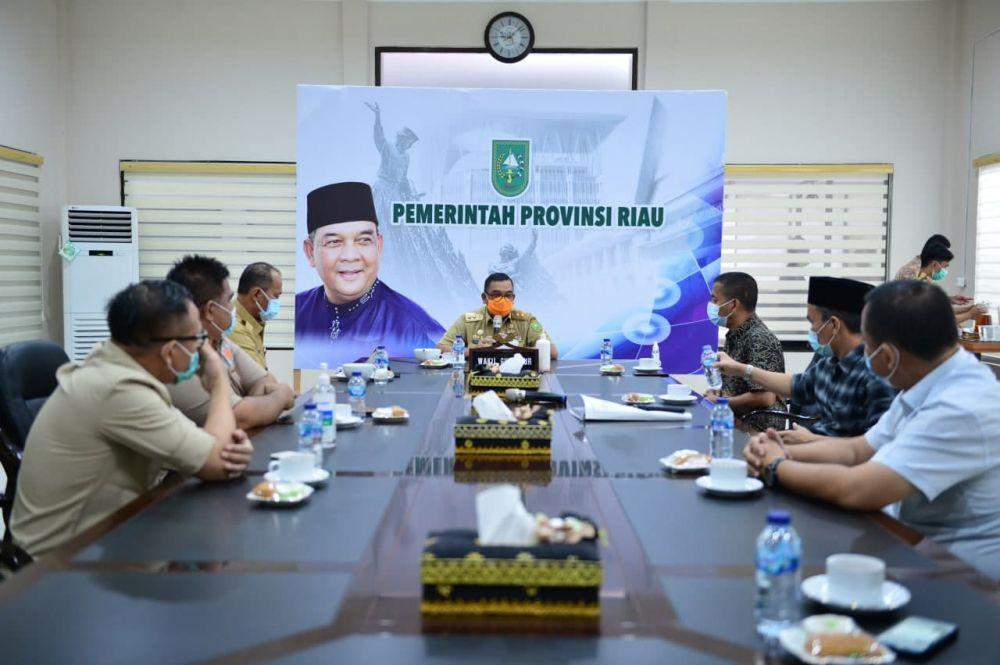 Wagubri Terima Audiensi Pengurus DPD REI Provinsi Riau