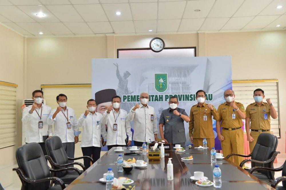 Wagubri Terima Silahturahmi Kepala Kantor Wilayah Ditjen Perbendaharaan Provinsi Riau