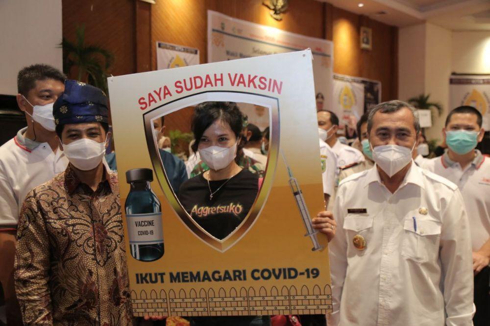 Wamenkes RI: Vaksinasi dan Donor Darah di Riau Bisa Dijadikan Percontohan