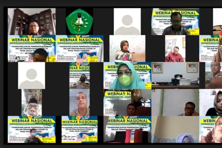 Webinar Pascasarjana Unilak, Kadiskes Riau Tegaskan Pentingnya Prokes