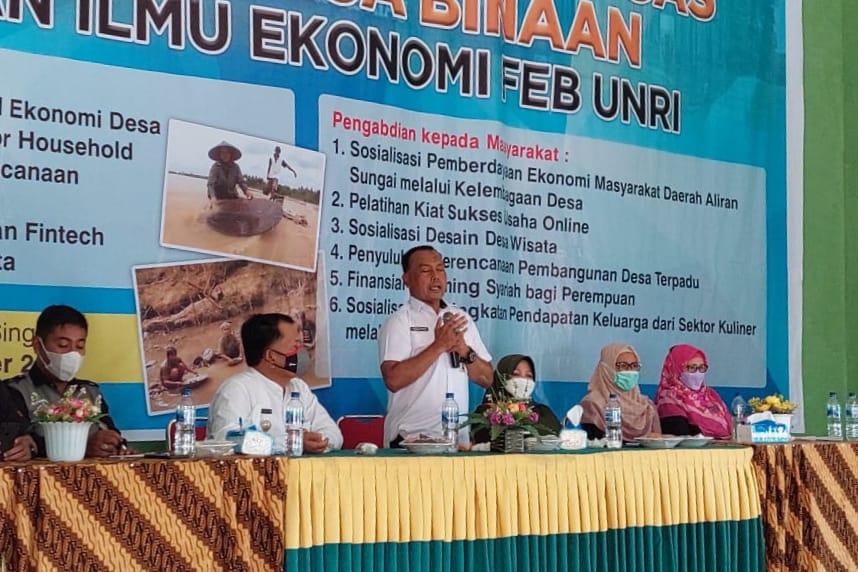 Wujudkan Logas Desa Lokus Binaan, Pemprov Gandeng Fakultas Ekonomi Unri
