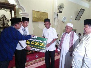 Baznas Salurkan Bantuan 100 Fakir Miskin di Pelalawan
