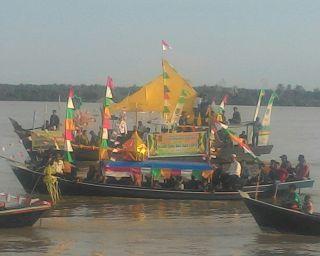 Meriahkan Tahun Baru Islam di Inhil Gelar Lomba Perahu Hias