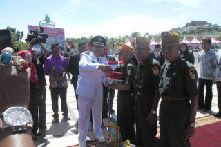 Peringatan Detik-detik Proklamasi HUT RI ke 71 di Rohul Berjalan Khidmat