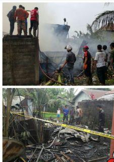 Rumah di Inhil Terbakar Setelah Ditinggal Pemiliknya