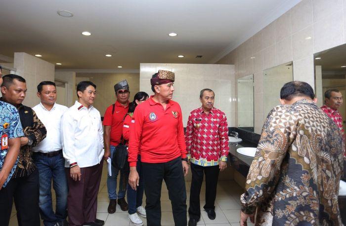 Ketum PSSI Tinjau Sarana Prasarana Stadion Utama Riau