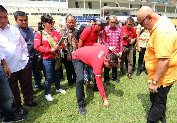 Ketum PSSI Tinjau Stadion Utama Riau