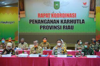 Rakor Penanganan Karhutla Provinsi Riau