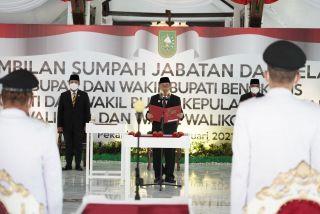 Gubernur Riau Lantik Tiga Kepala Daerah Riau Terpilih