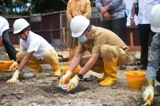 Peletakan Batu Pertama Sentra Ekonomi Kreatif LAM Riau