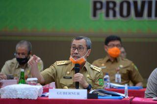 Arahan Gubernur Riau di Rakor Karhutla