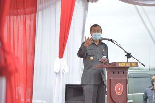 Sambutan Gubernur Riau di Acara Penanaman Jagung Perdana KTH