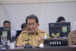 Sekdaprov Riau Video Conference dengan KPK RI dalam rangka Koordinasi