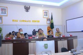 Sekdaprov Riau Video Conference dengan KPK RI