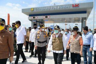 Gubernur Riau Tinjau Tol Pekanbaru-Dumai